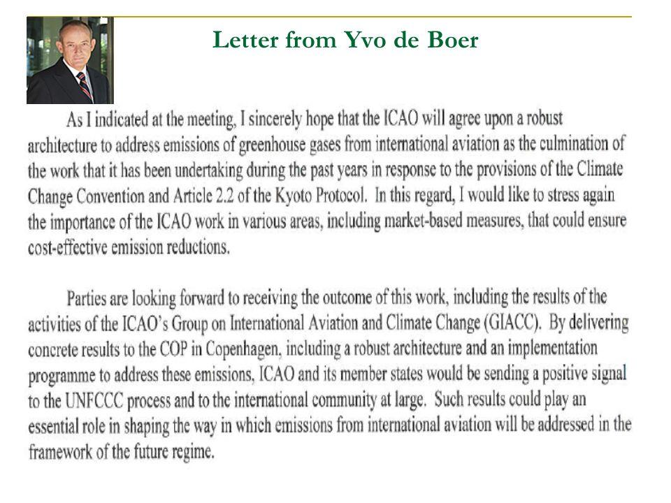 27 Letter from Yvo de Boer