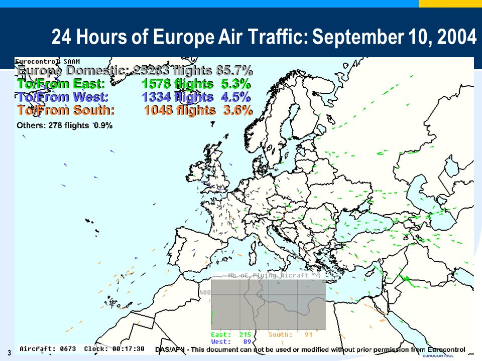 3 24 Hours of Europe Air Traffic: September 10, 2004
