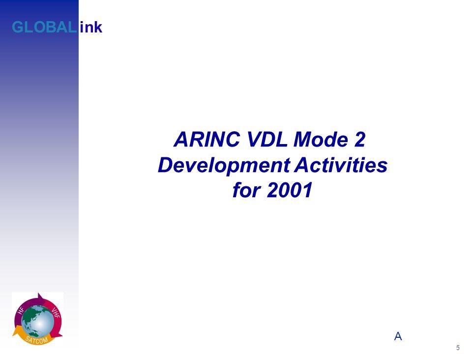 A 5 GLOBALink ARINC VDL Mode 2 Development Activities for 2001