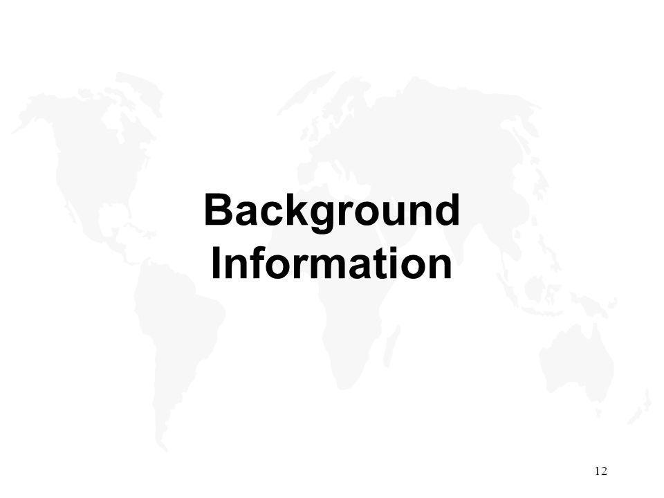 12 Background Information