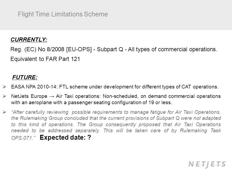 Flight Time Limitations Scheme CURRENTLY: Reg.