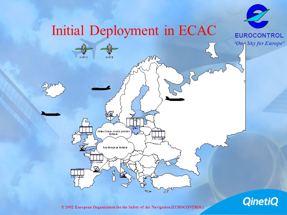 One Sky for Europe EUROCONTROL © 2002 European Organisation for the Safety of Air Navigation (EUROCONTROL) Initial Deployment in ECAC