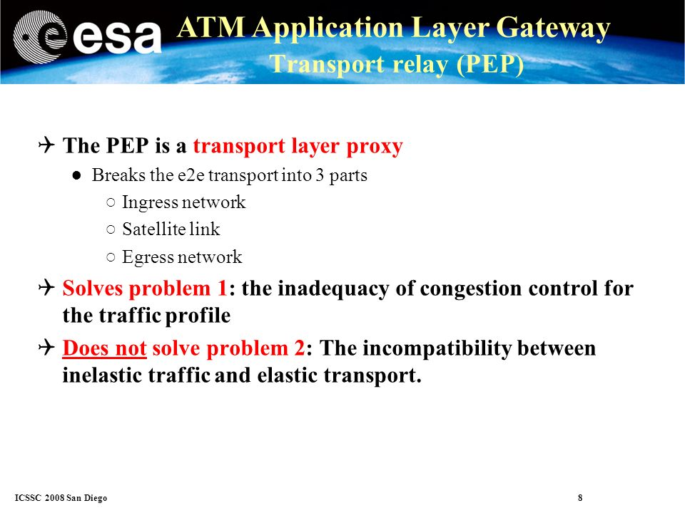 ICSSC 2008 San Diego 19 ATM Application Layer Gateway Test cases The tests were carried out with a mix of 3 types of messages.