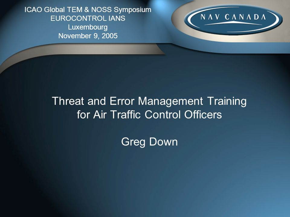 Presentation Overview Background Overview of TEM Training Benefits Review
