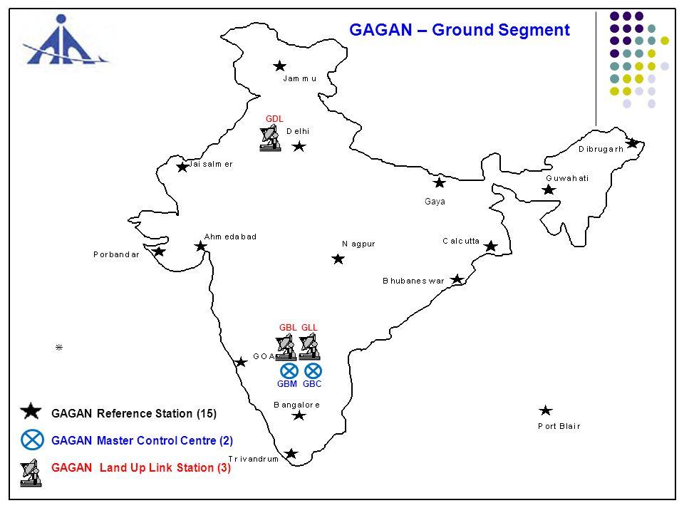 Bangalore INRES Facility 4 3 1 2 GAGAN Ground Segment Sites VSAT Antenna (6.3m Dia) INMCC CTF Building INLUS 11m Antenna