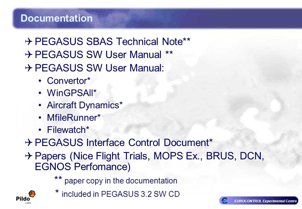 EUROCONTROL Experimental Centre Documentation PEGASUS SBAS Technical Note** PEGASUS SW User Manual ** PEGASUS SW User Manual: Convertor* WinGPSAll* Ai