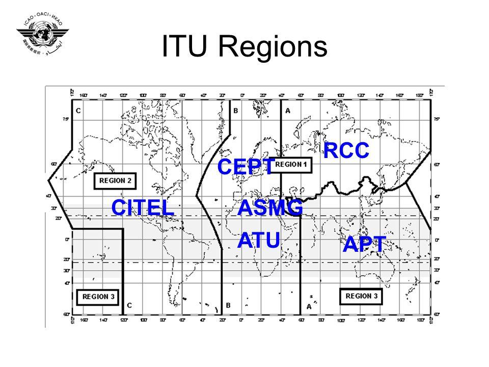 ITU Regions APT CEPT ATU CITEL RCC ASMG