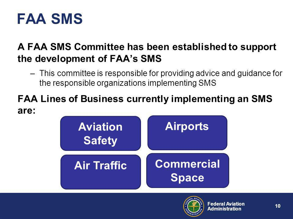 9 Federal Aviation Administration FAA SMS Overview