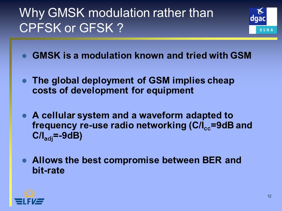 12 Why GMSK modulation rather than CPFSK or GFSK .