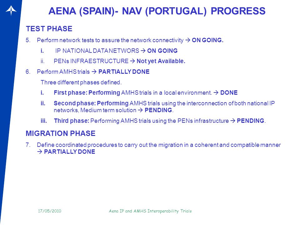 17/05/2010Aena IP and AMHS Interoperability Trials Thanks for your attention