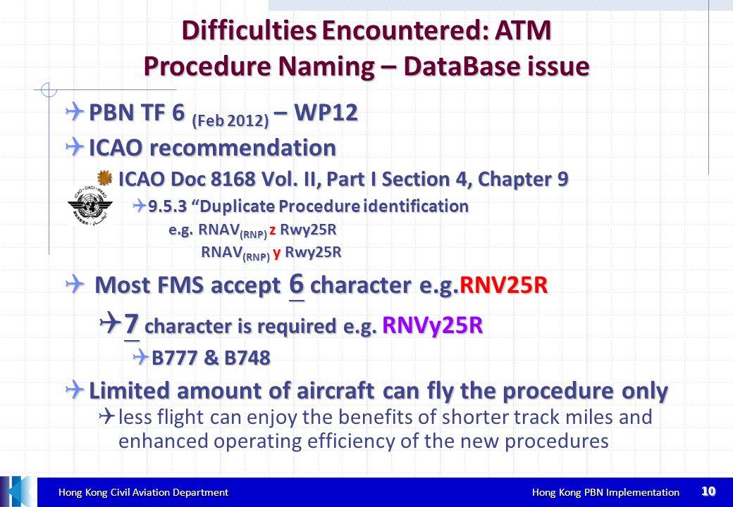 Hong Kong Civil Aviation Department Hong Kong PBN Implementation Hong Kong Civil Aviation Department Hong Kong PBN Implementation PBN TF 6 (Feb 2012)