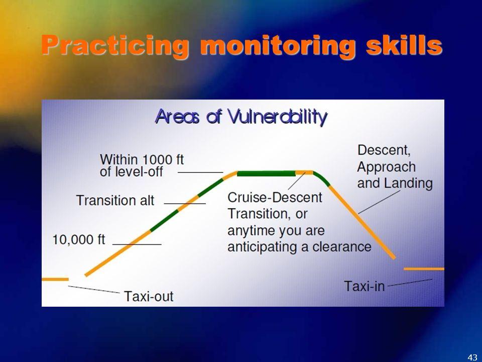Practicing monitoring skills 43