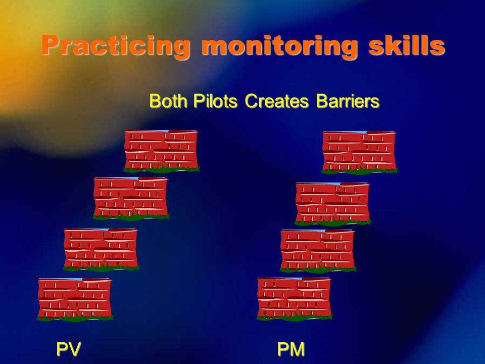 PVPM Both Pilots Creates Barriers Practicing monitoring skills