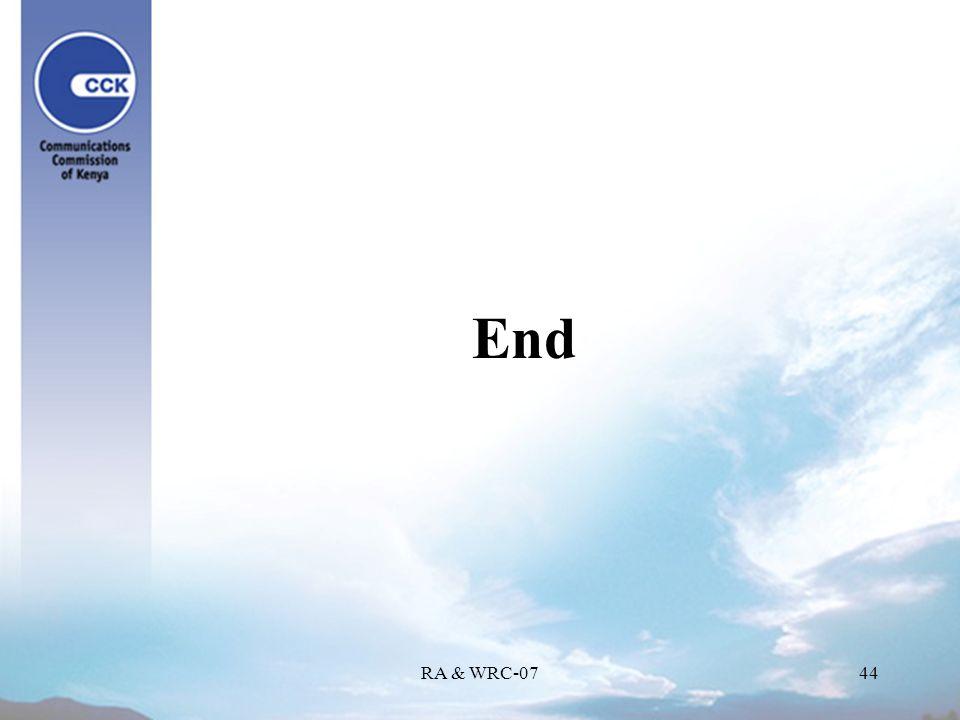 RA & WRC-0744 End