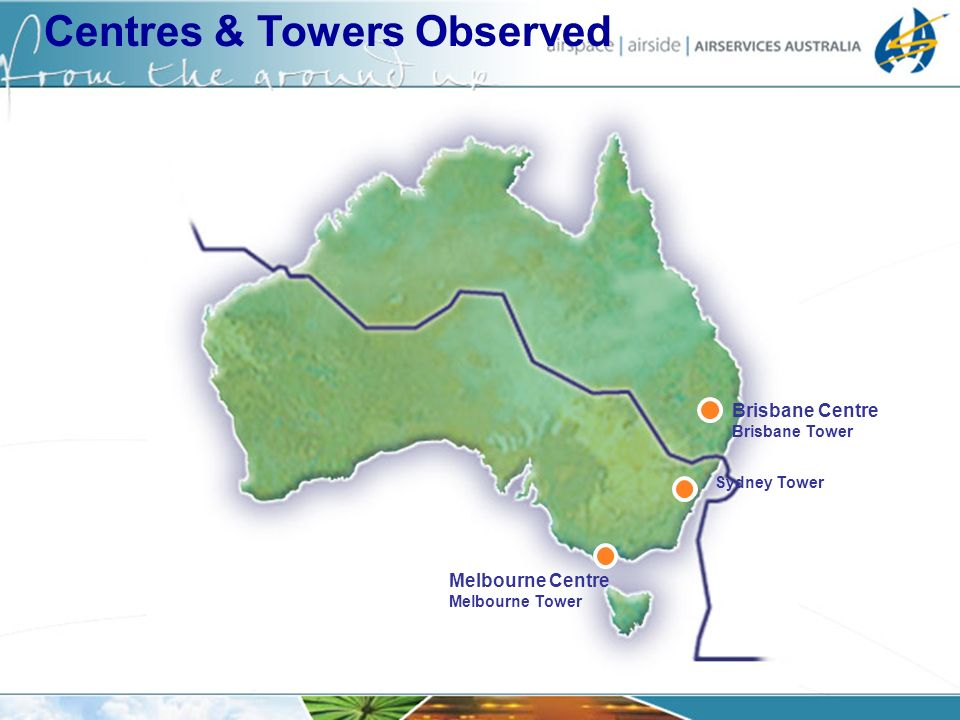 Centres & Towers Observed Brisbane Centre Brisbane Tower Melbourne Centre Melbourne Tower Sydney Tower