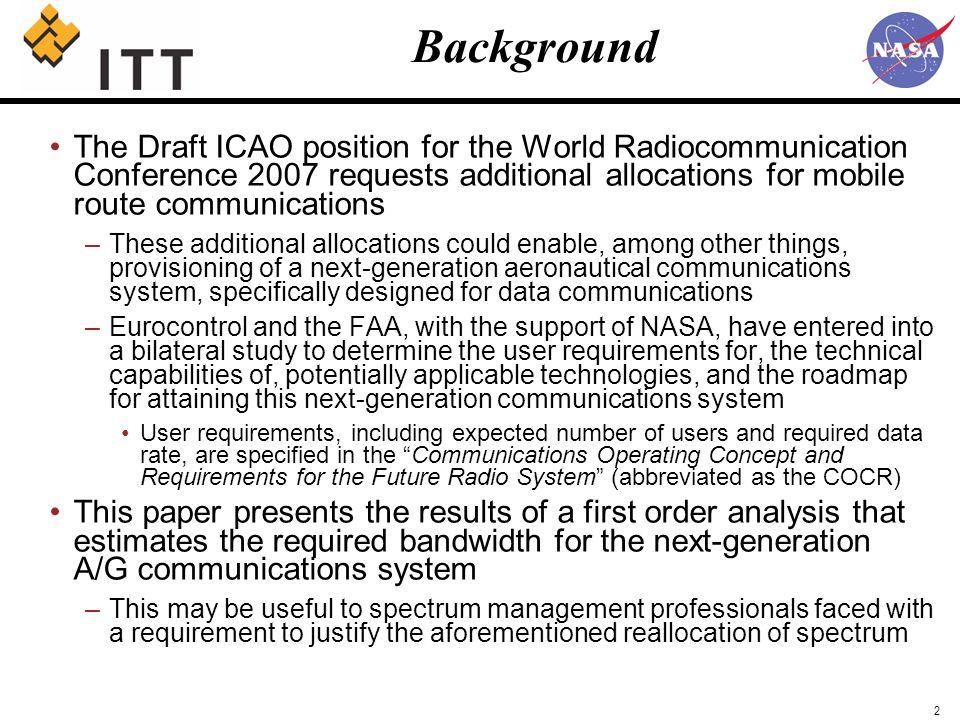 NASA A/G Communications Technology Assessment Study Supplemental