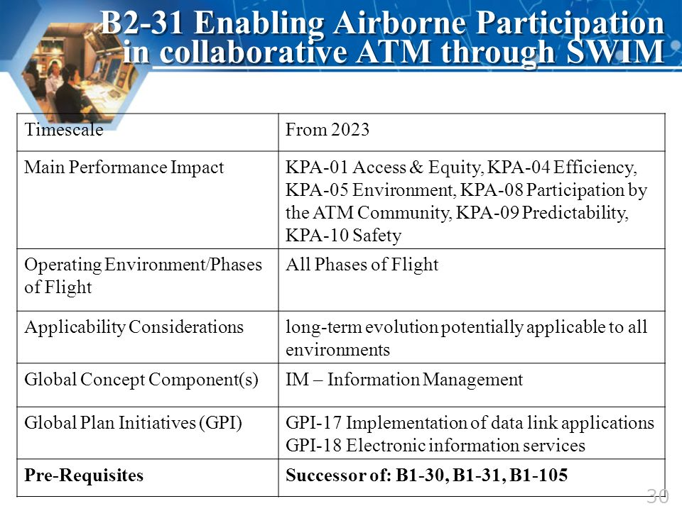 TimescaleFrom 2023 Main Performance ImpactKPA-01 Access & Equity, KPA-04 Efficiency, KPA-05 Environment, KPA-08 Participation by the ATM Community, KP