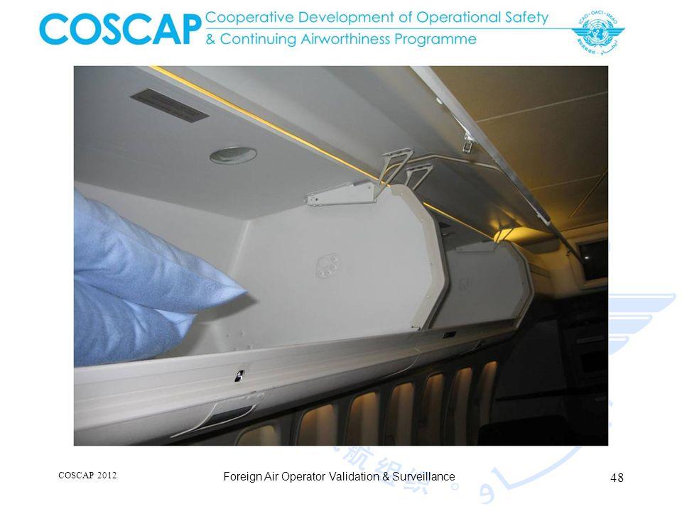 48 COSCAP 2012 Foreign Air Operator Validation & Surveillance