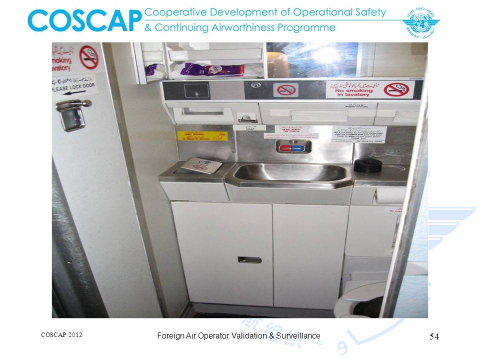 54 COSCAP 2012 Foreign Air Operator Validation & Surveillance