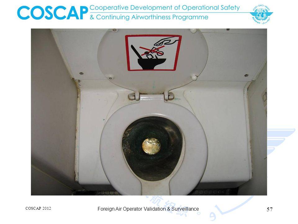 57 COSCAP 2012 Foreign Air Operator Validation & Surveillance