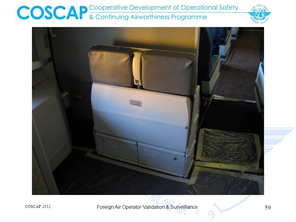 59 COSCAP 2012 Foreign Air Operator Validation & Surveillance