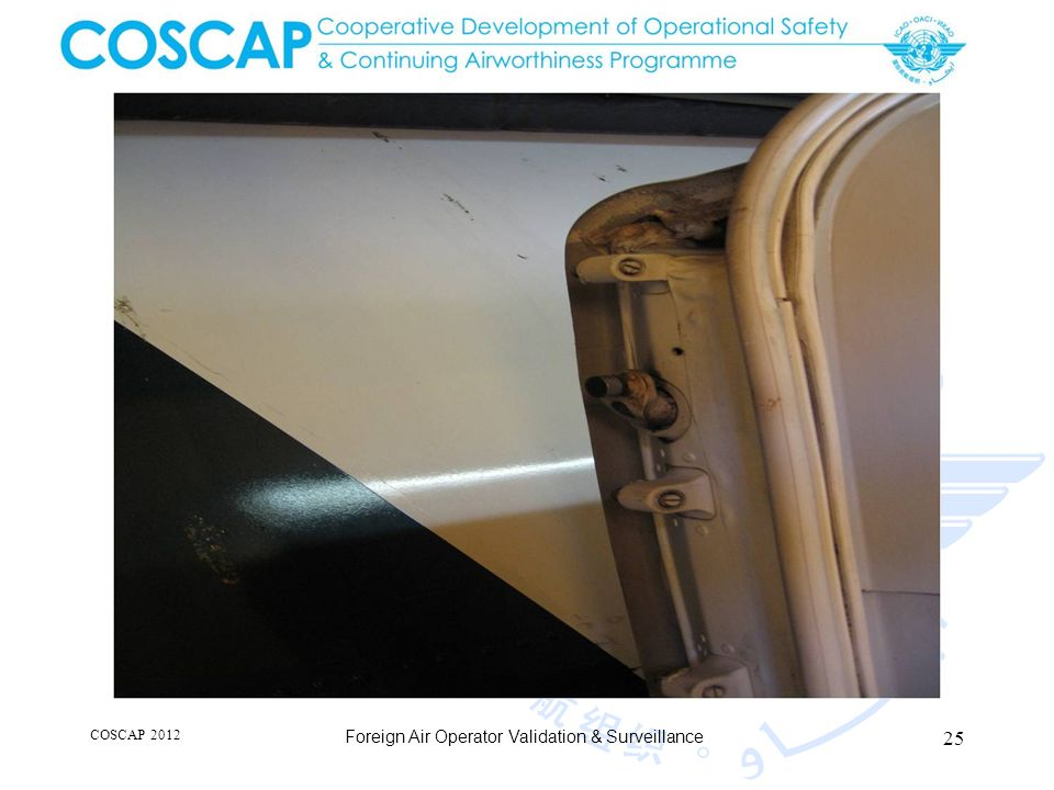 25 COSCAP 2012 Foreign Air Operator Validation & Surveillance
