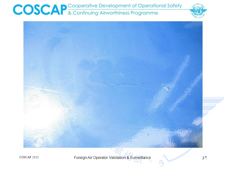 37 COSCAP 2012 Foreign Air Operator Validation & Surveillance
