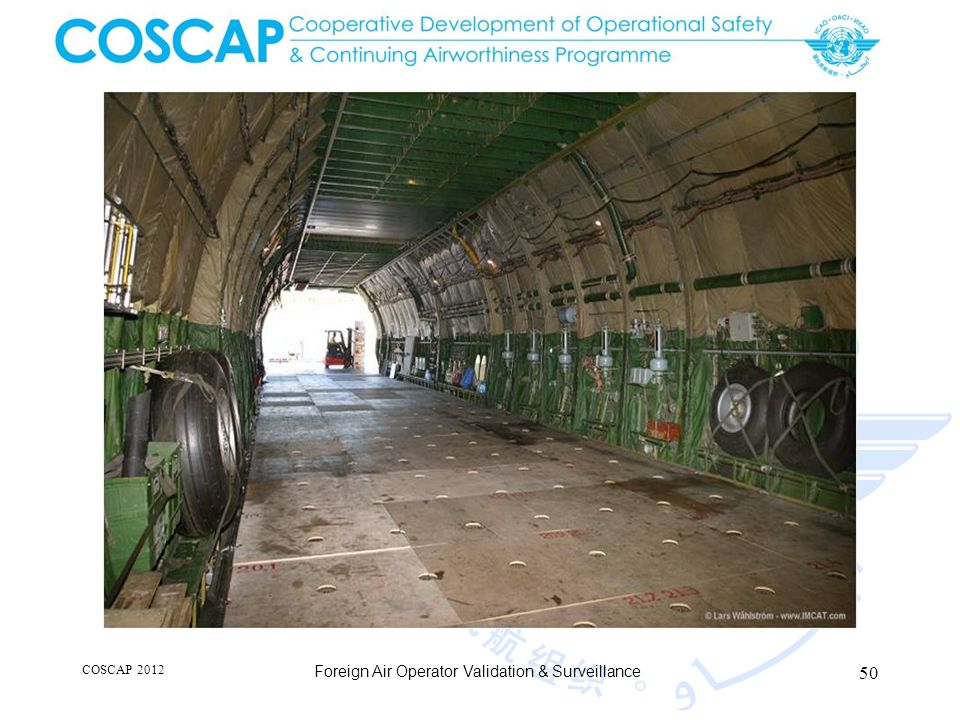 50 COSCAP 2012 Foreign Air Operator Validation & Surveillance