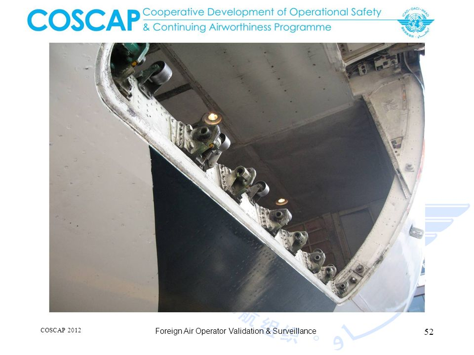 52 COSCAP 2012 Foreign Air Operator Validation & Surveillance