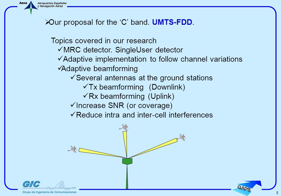 7 Further considerations regarding the spreading factor in TDD /FDD and aeronautical channel delay spread.