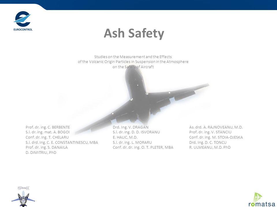Ash Safety Prof. dr. ing. C. BERBENTE S.l. dr. ing. mat. A. BOGOI Conf. dr. ing. T. CHELARU S.l. drd. Ing. C. E. CONSTANTINESCU, MBA Prof. dr. ing. S.
