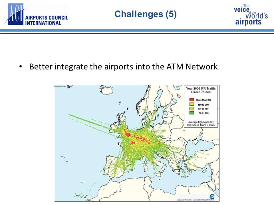 19 Challenges (5) Better integrate the airports into the ATM Network