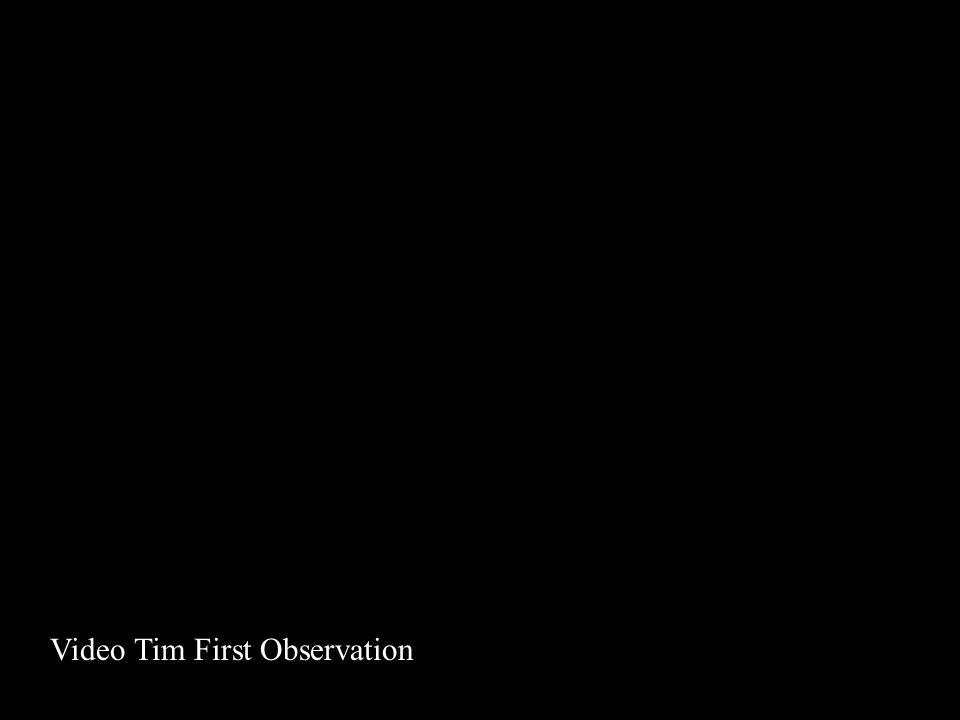 Video Tim First Observation