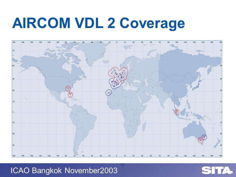 ICAO Bangkok November2003 AIRCOM VDL 2 Coverage