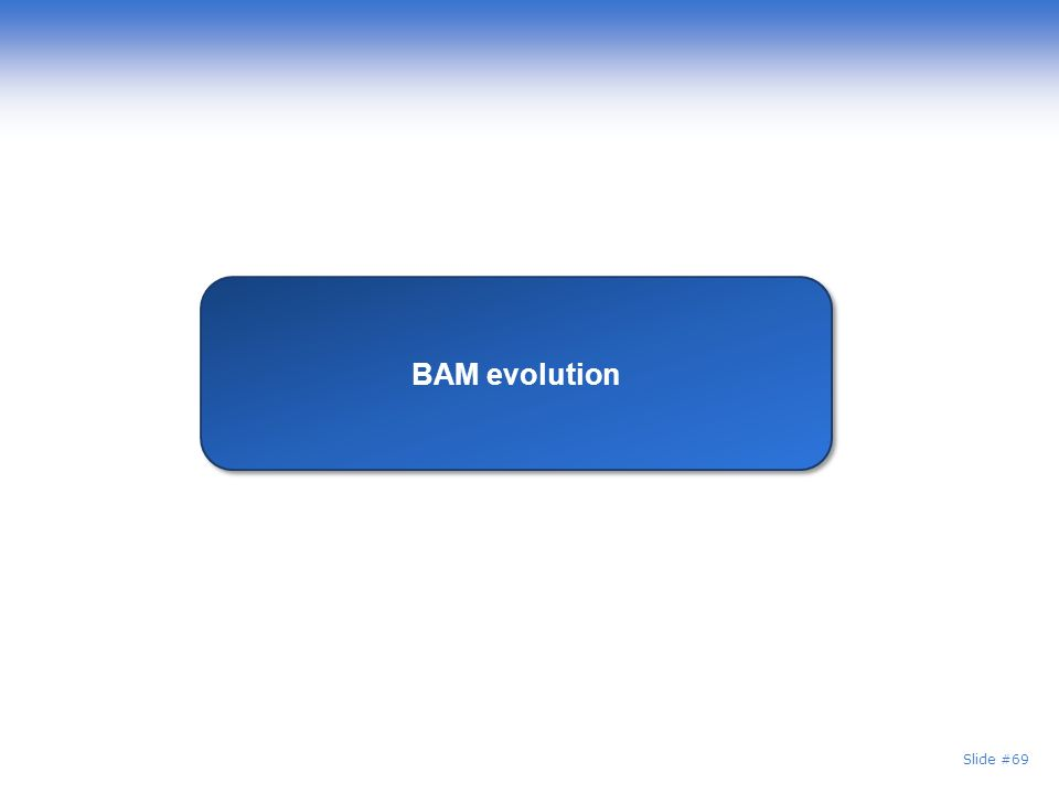 Slide #69 BAM evolution
