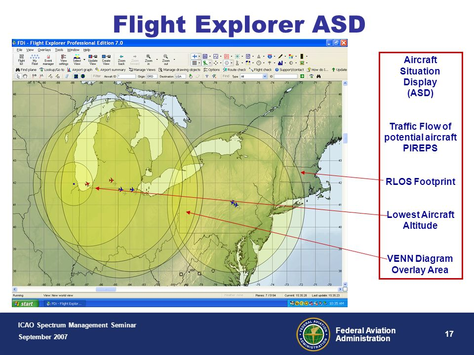 16 Federal Aviation Administration Example Engineering Analysis Tools Automated Frequency Manager (AFM) Automated Frequency Manager (AFM) Flight Explo