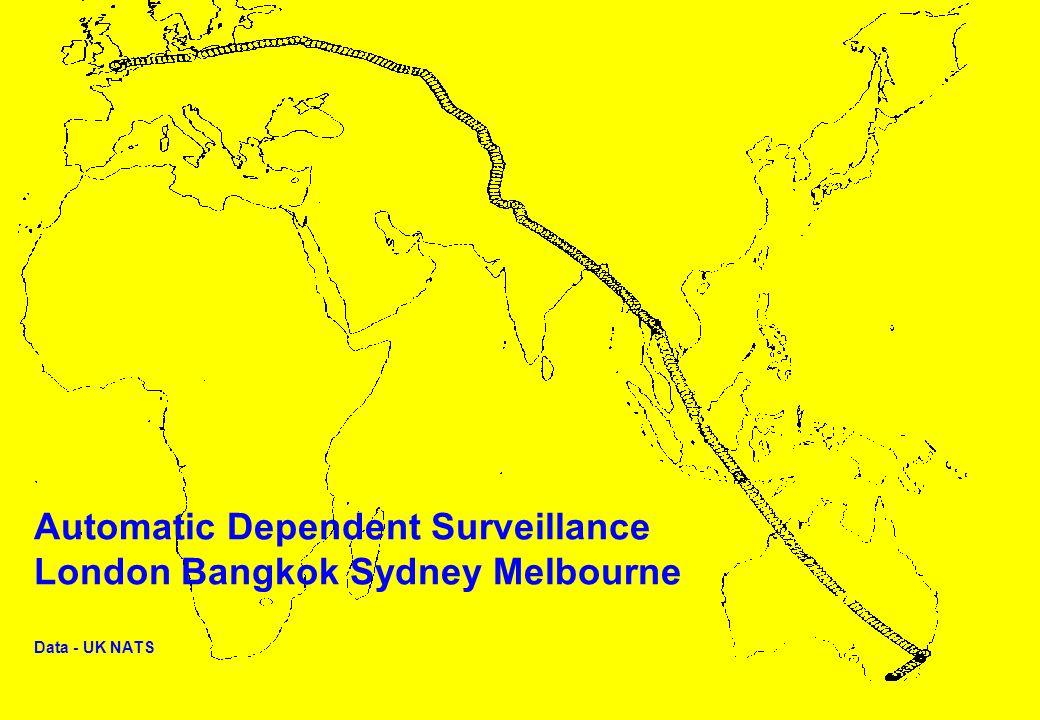 A IRSERVICES A USTRALIA Automatic Dependent Surveillance London Bangkok Sydney Melbourne Data - UK NATS
