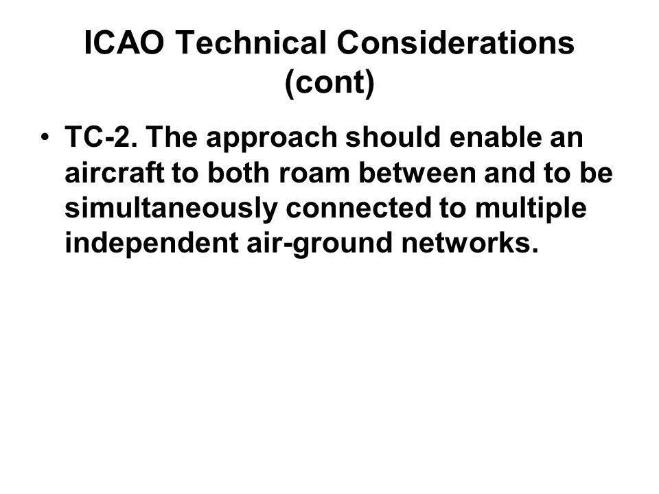 ICAO Technical Considerations (cont) TC-2.