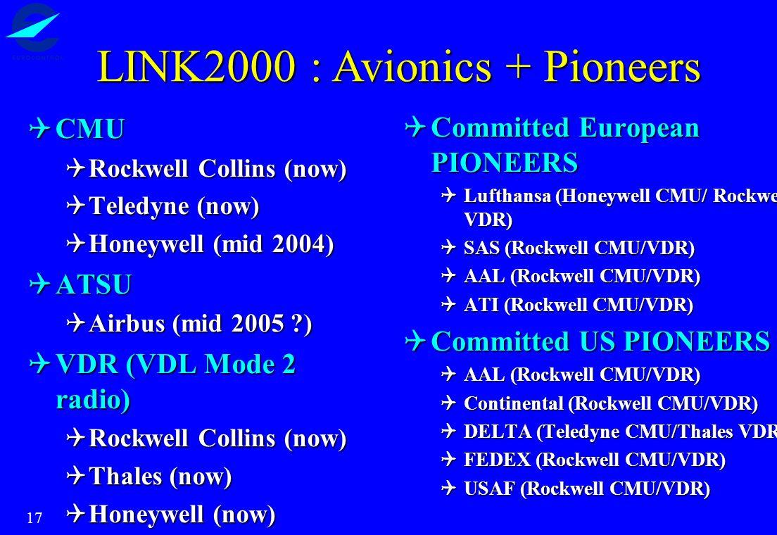 17 CMU CMU Rockwell Collins (now) Rockwell Collins (now) Teledyne (now) Teledyne (now) Honeywell (mid 2004) Honeywell (mid 2004) ATSU ATSU Airbus (mid