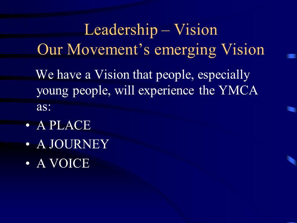 Representation Represent the YMCA to your local community – e.g.