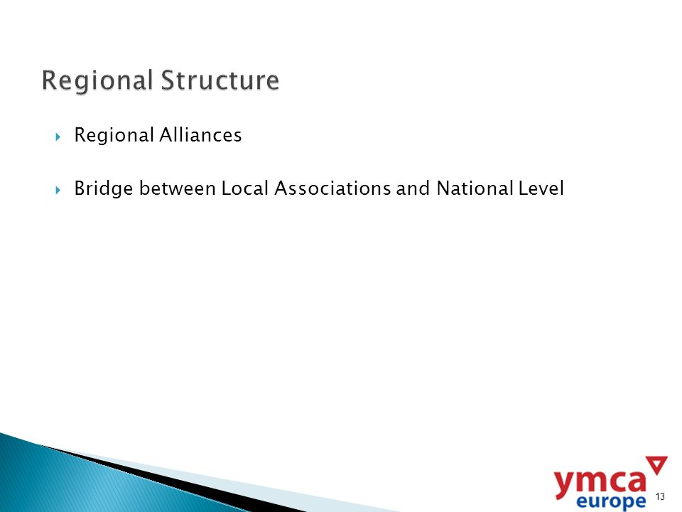 Regional Alliances Bridge between Local Associations and National Level 13