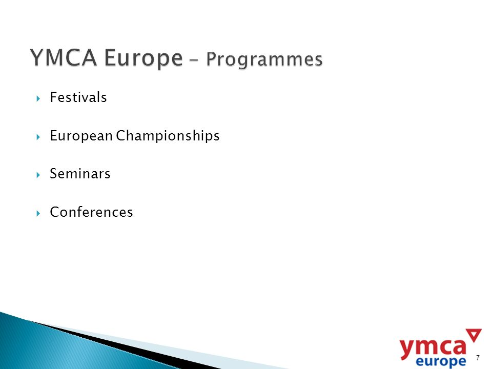 Festivals European Championships Seminars Conferences 7