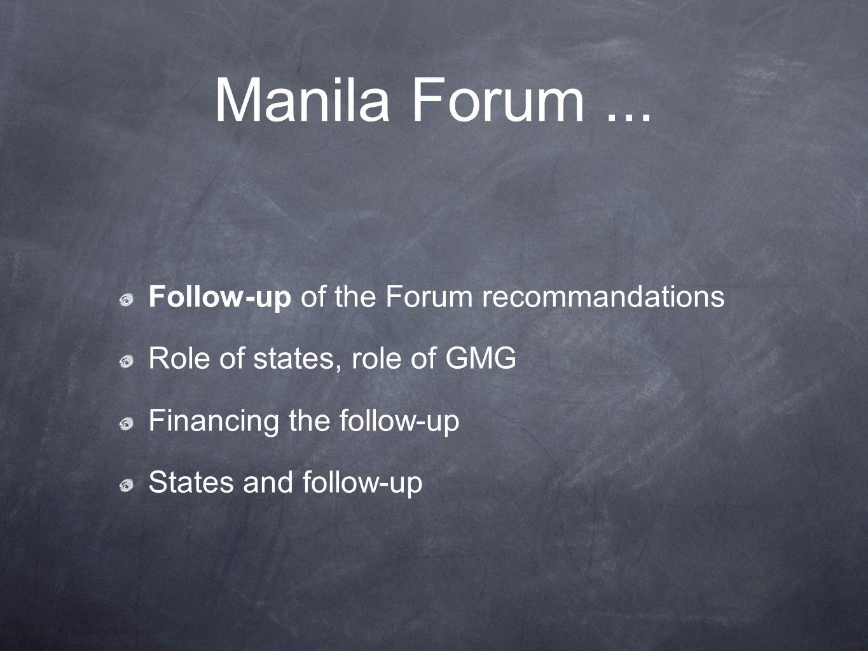Manila Forum...