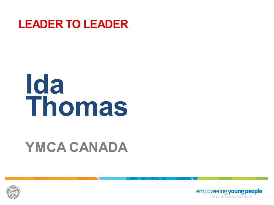 Ida Thomas YMCA CANADA LEADER TO LEADER