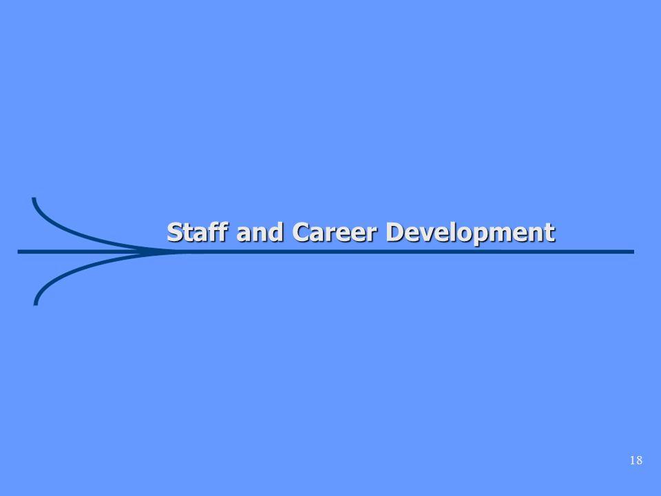 18 Staff and Career Development