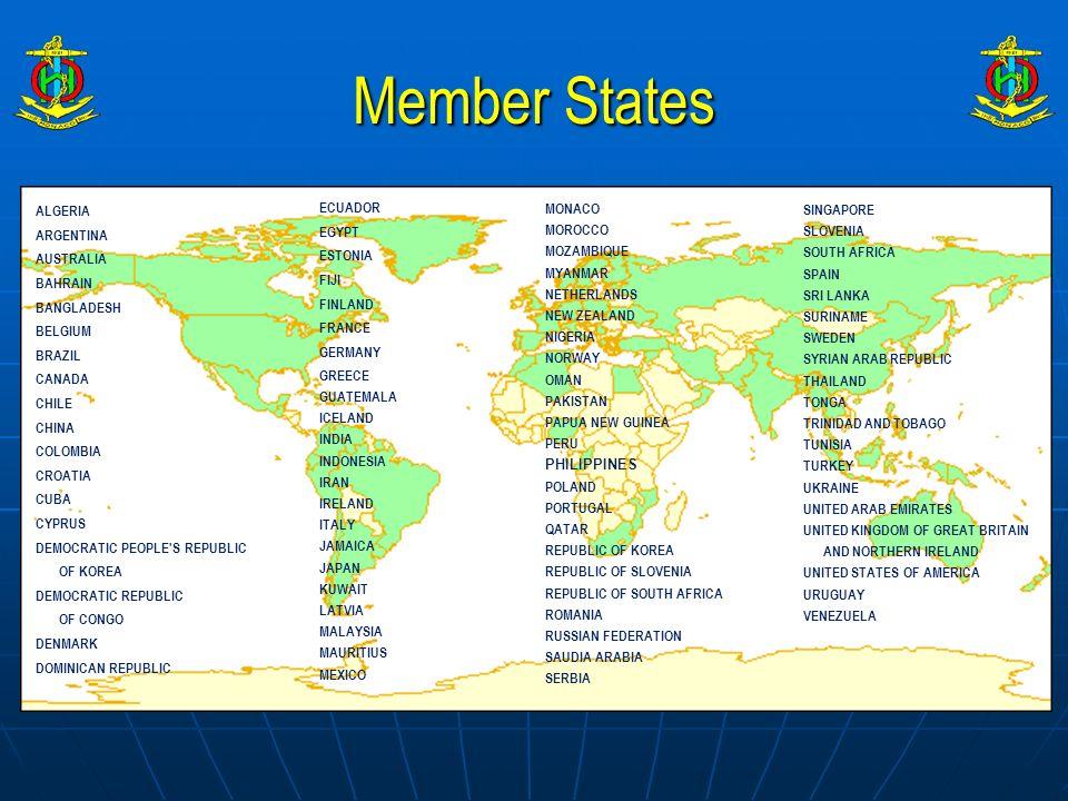 Member States ALGERIA ARGENTINA AUSTRALIA BAHRAIN BANGLADESH BELGIUM BRAZIL CANADA CHILE CHINA COLOMBIA CROATIA CUBA CYPRUS DEMOCRATIC PEOPLE'S REPUBL