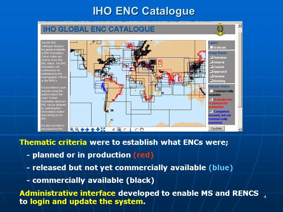 5 IHO ENC Catalogue – Administrative Interface