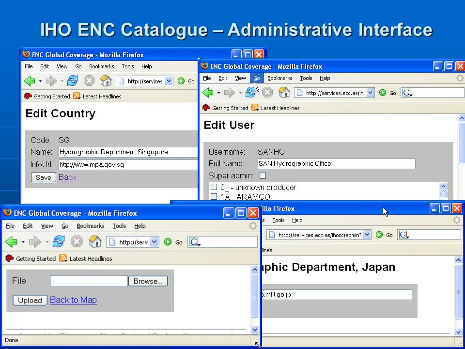 5 IHO ENC Catalogue – Administrative Interface