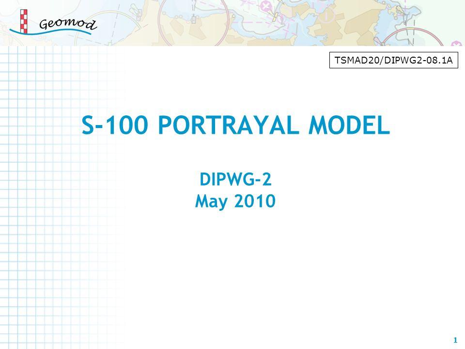 S-100 PORTRAYAL MODEL DIPWG-2 May 2010 1 TSMAD20/DIPWG2-08.1A