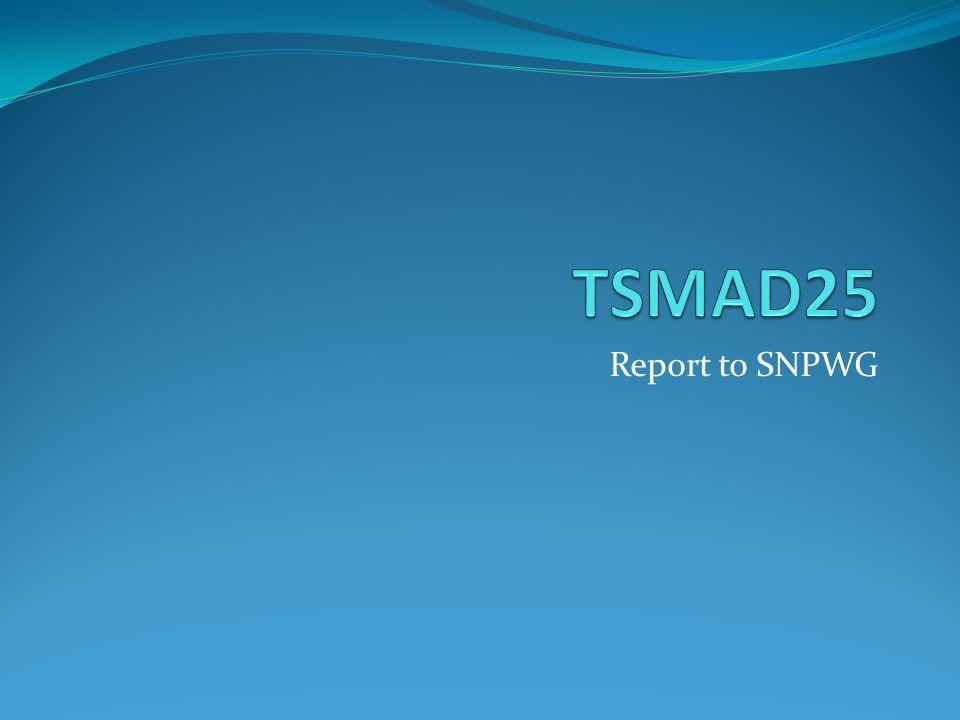 Report to SNPWG